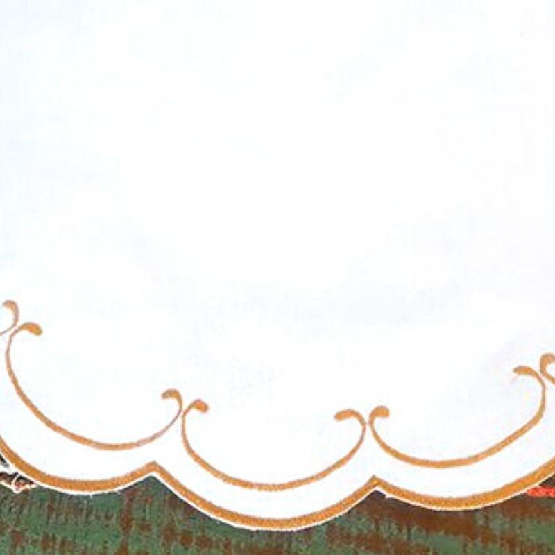 Jogo Americano 2 Peças Bordado Cheio Percal 230 Fios Dourado Redondo   - Bordados do Ceará - Jutnet