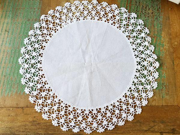 Jogo Americano com Bico em Crochê Branco 45 cm (4 Unid.)  - Bordados do Ceará - Jutnet