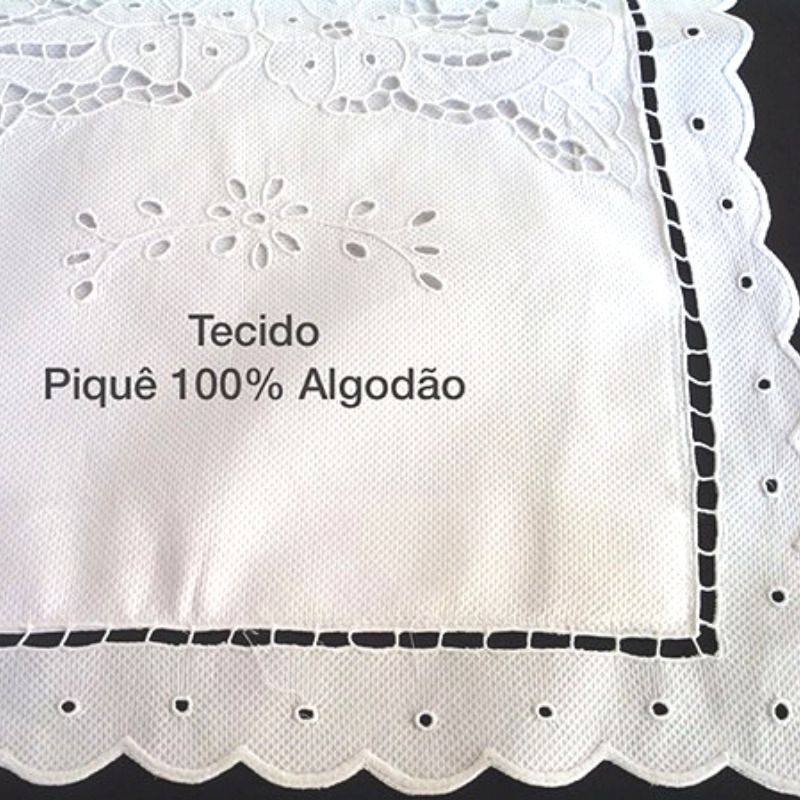 Kit Berço 100% Algodão em Bordado Richelieu a partir de 7 Peças Miudinho  - Bordados do Ceará - Jutnet