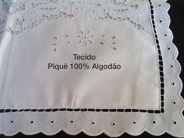 Kit Berço com Bordado Richelieu 100% Algodão a partir de 7 Peças Safari  - Bordados do Ceará - Jutnet