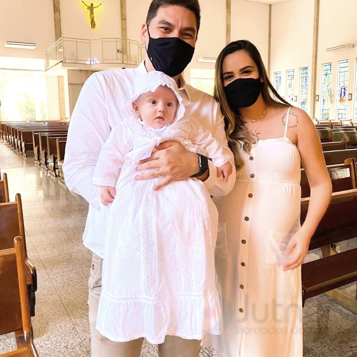 Mandrião para Batismo Manga Longa em Renda Paraíba  - Bordados do Ceará - Jutnet