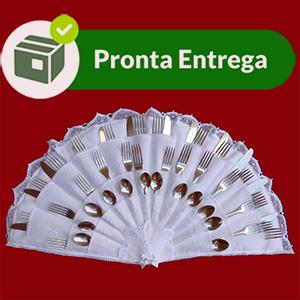 Porta Talher com Renda Renascença e Bordado à Mão (p/ 36 peças)  - Bordados do Ceará - Jutnet