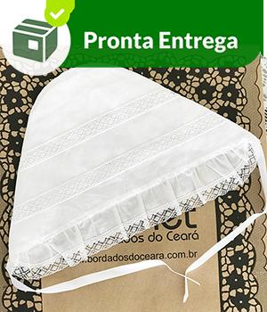 TOUCA BATIZADO COM BICO EM RENDA PARAÍBA  - Bordados do Ceará - Jutnet