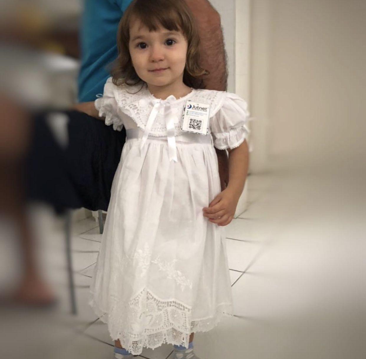 Vestido Bordado a Mão com Renda Renascença 2 Anos  - Bordados do Ceará - Jutnet