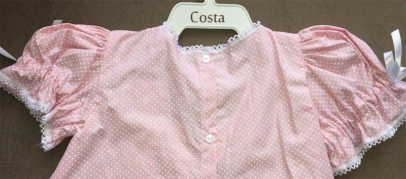 Vestido Pala e Poá com Renda Renascença Rosa RN a 3 m  - Bordados do Ceará - Jutnet