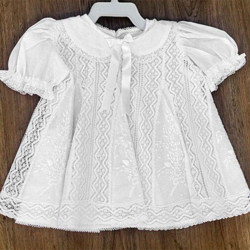 Vestido em Renda Paraíba veste 3 à 6 meses  - Bordados do Ceará - Jutnet
