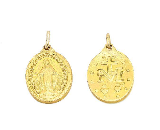 100 Medalhinhas N.Sra das Graças - alumínio