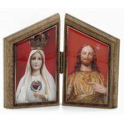 Capelinha de Mesa Sagrados Corações de  Jesus e Maria