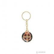 Chaveiro Medalha São Bento 3cm Dourada
