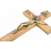 Crucifixo Com Medalha De São Bento 26cm
