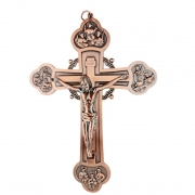 Crucifixo de Parede Metal 20 cm 12 Apóstolos Cor Bronze