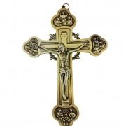 Crucifixo de Parede Metal 20 cm 12 Apóstolos nas Pontas PV