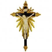 Crucifixo De Resina Barroco Estilo Antigo Cor Marfim 75cm