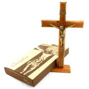 Crucifixo Madeira - 35cm - Parede e Mesa