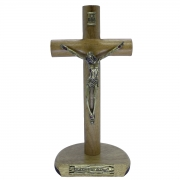 Crucifixo Madeira de Mesa - 17 cm PV