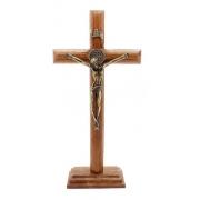 Crucifixo Medalha São Bento Mesa 19cm OV