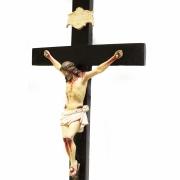Crucifixo Tradicional 52cm Cruz De Madeira Imagem Resina Policromado