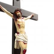 Crucifixo Tradicional de Madeira C/ Imagem em Resina 60cm