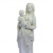 Imagem Escultura Nossa Senhora do Divino Amor 29cm Cor Marfim