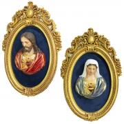 Kit Imagem Busto Sagrados Corações de Jesus e Maria