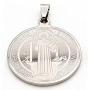 Medalha Italiana de São Bento - Aço Inox 3cm