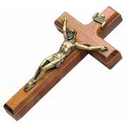 Mini Crucifixo Madeira para Parede - 12cm