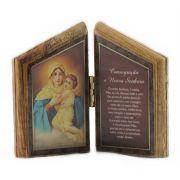 Oração de mesa Mãe Rainha - madeira