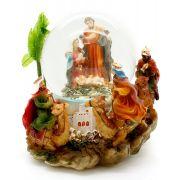 Presépio Sagrada Família - Esfera Músical com Água