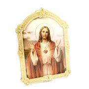 Quadrinho Húngaro - Sagrado Coração de Jesus - 14cm