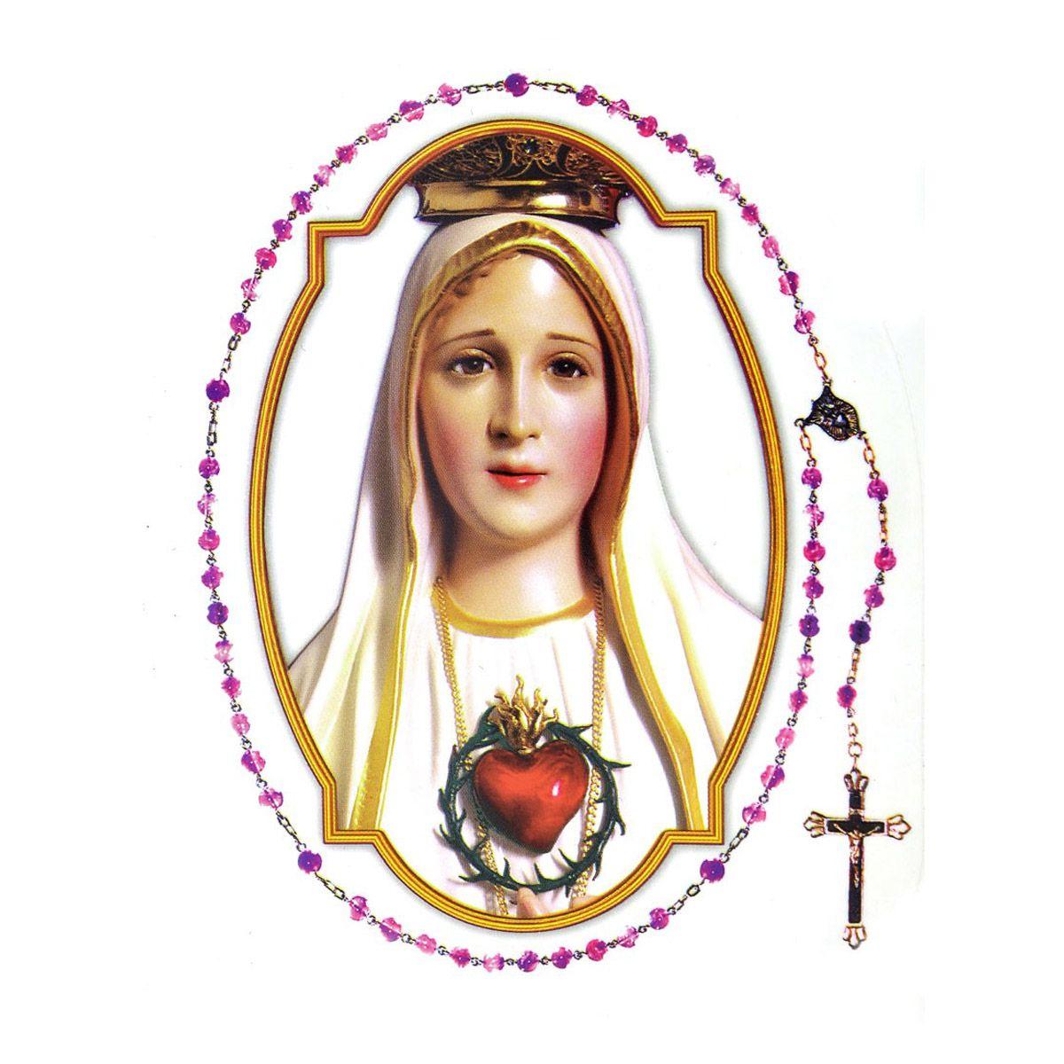 Adesivo Nossa Senhora de Fátima Externo - 4 Unidades