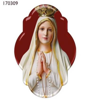 Adesivo Nossa Senhora de Fátima Resinado 9CM (3 UNIDADES)