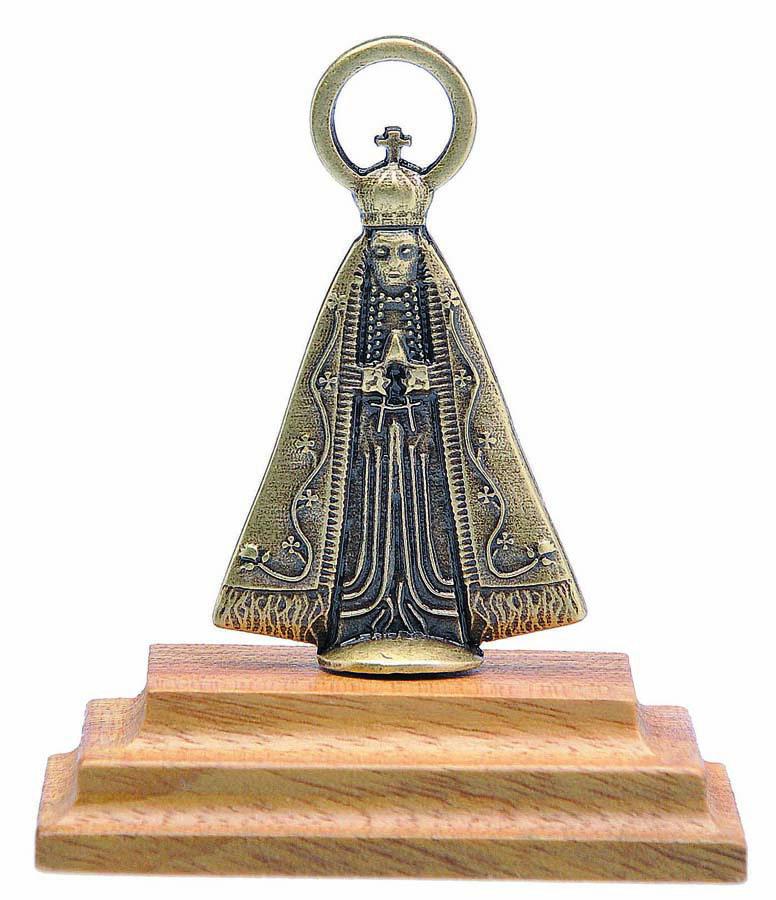 Adorno de Mesa Nossa Senhora Aparecida em Metal - 6cm