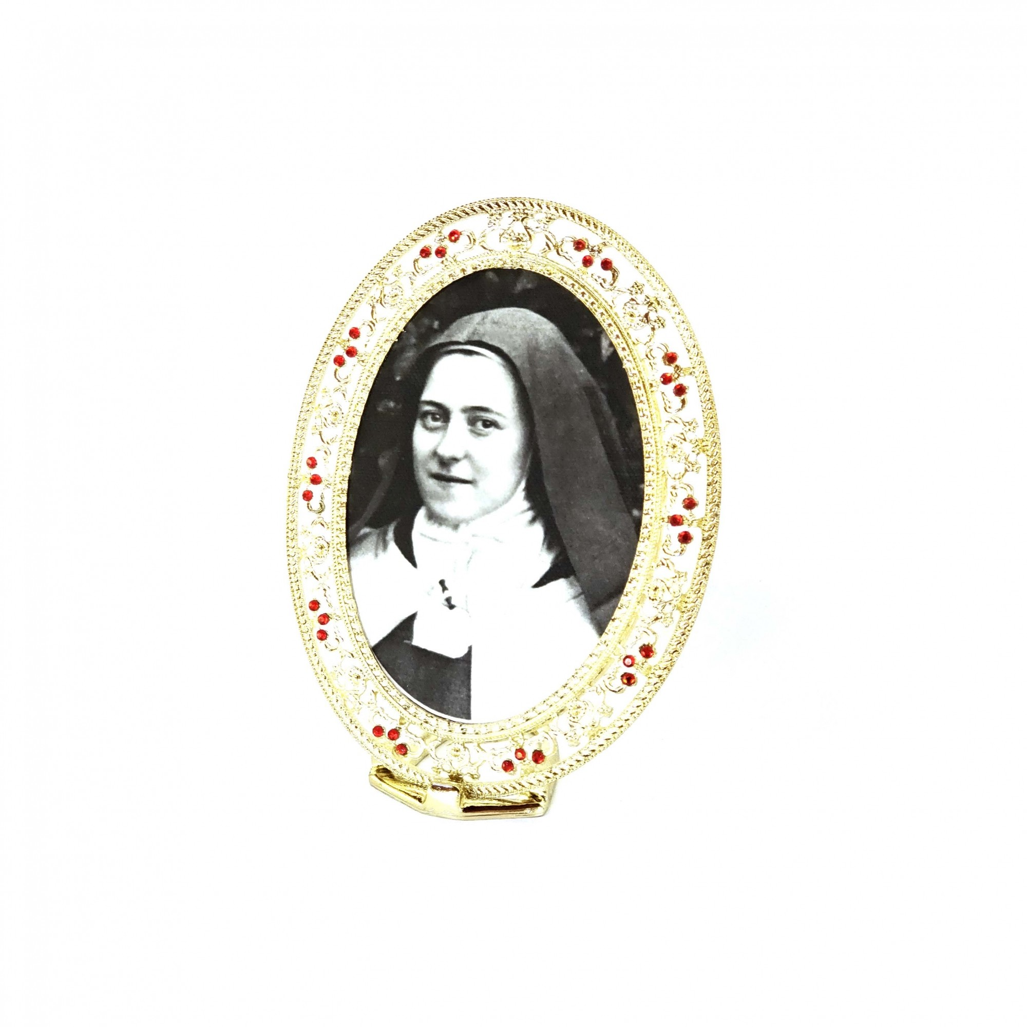 Adorno de mesa Oval Camafeu Santa Teresinha do Menino Jesus