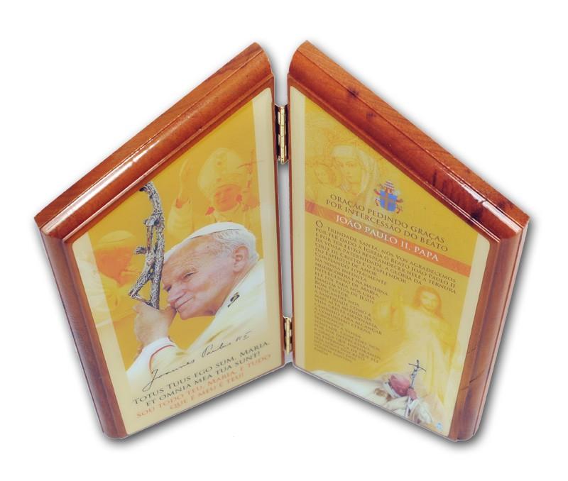 Adorno de Mesa São João Paulo II com Oração
