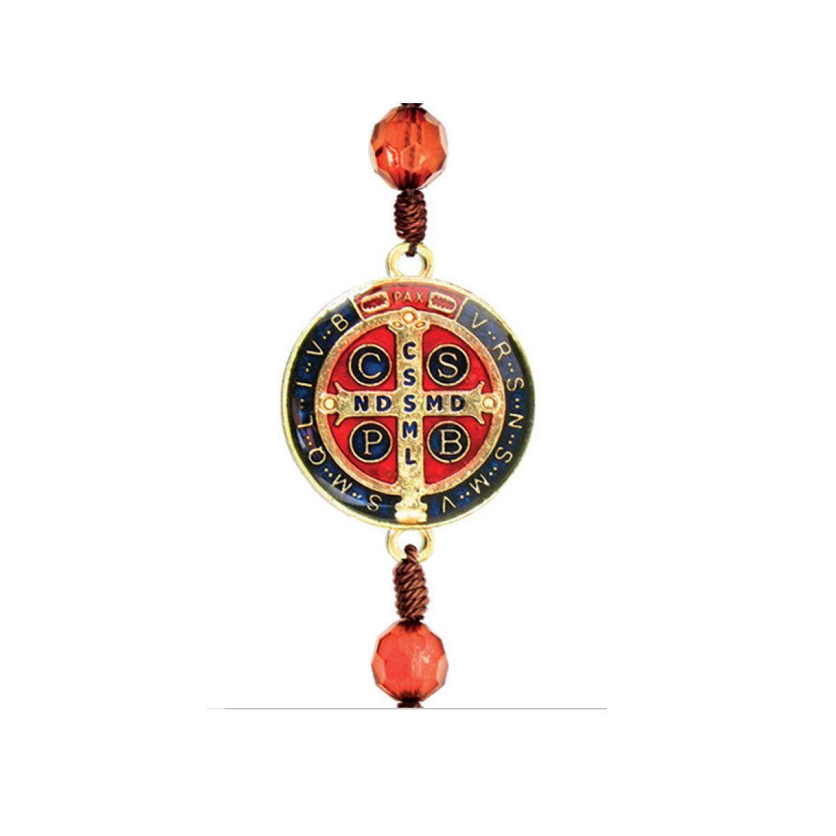 Adorno de Porta Redondo Pequeno 3 medalhas São Bento Cor
