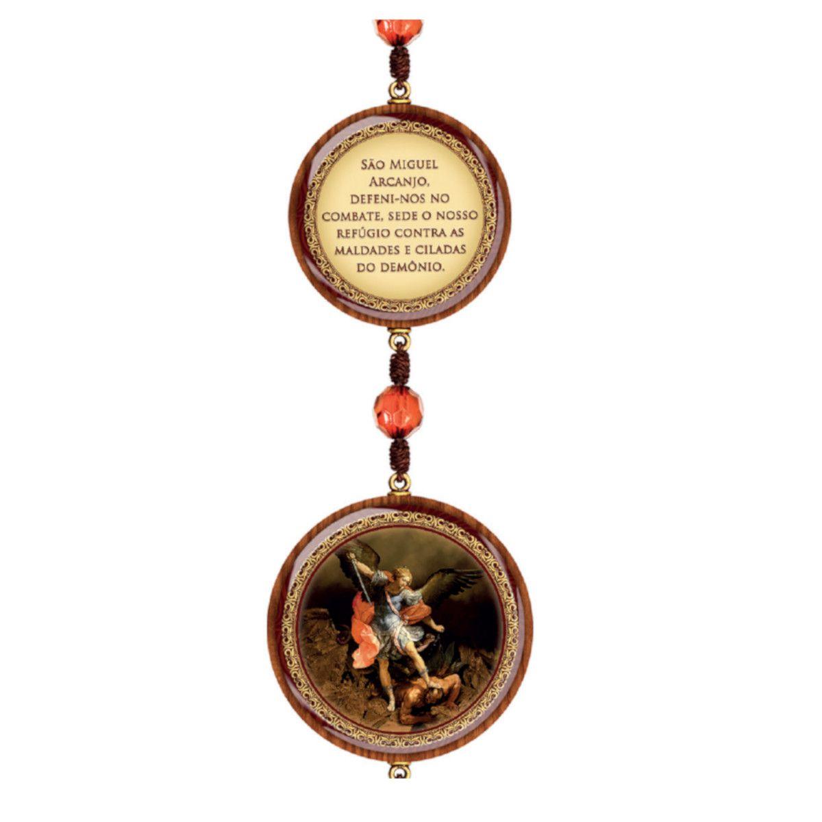 Adorno de Porta Redondo Pequeno 3 medalhas São Miguel