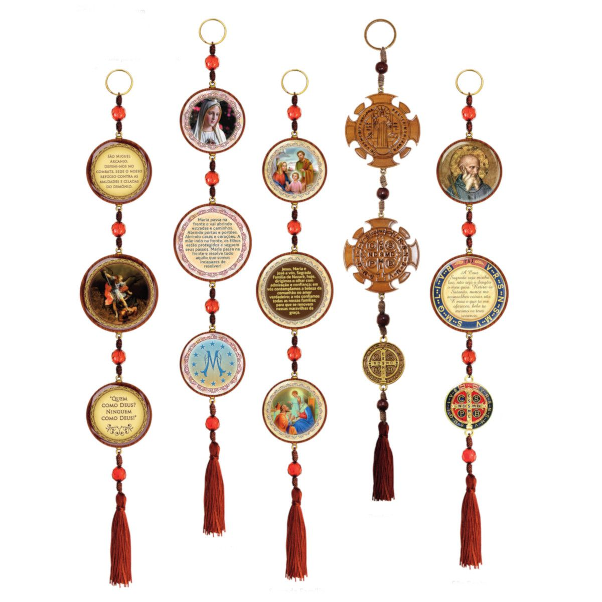 Adorno de Porta Redondo Pequeno 3 medalhas