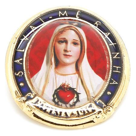 Bóton Nossa Senhora de Fátima  Salvai-me Rainha