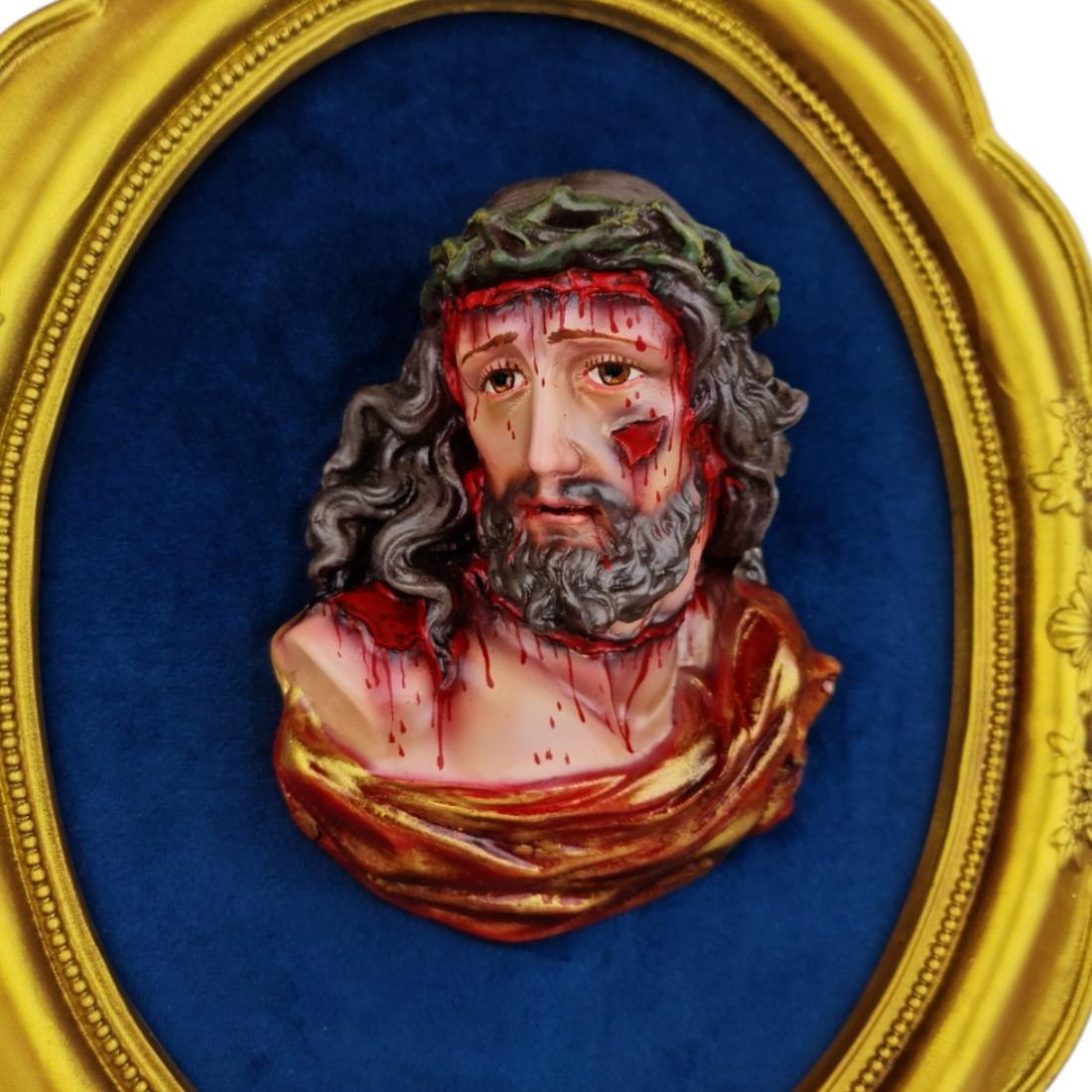 Busto da Paixão de Jesus Cristo Flagelado em Resina Policromado
