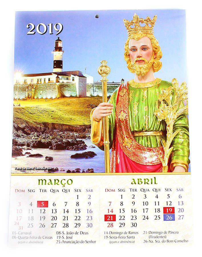 Calendário de Parede Nossa Senhora de Fátima 2019