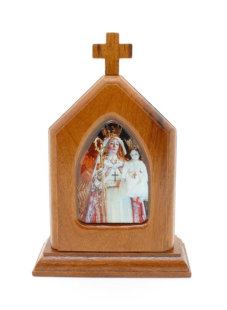 Capelinha Adorno de Mesa Nossa Senhora do Bom Sucesso