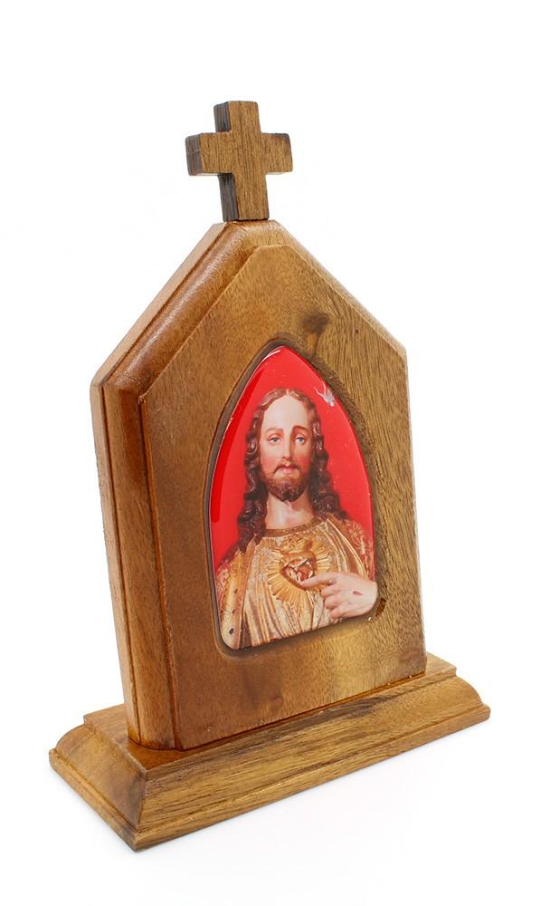 Capelinha Adorno de Mesa Sagrado Coração de Jesus