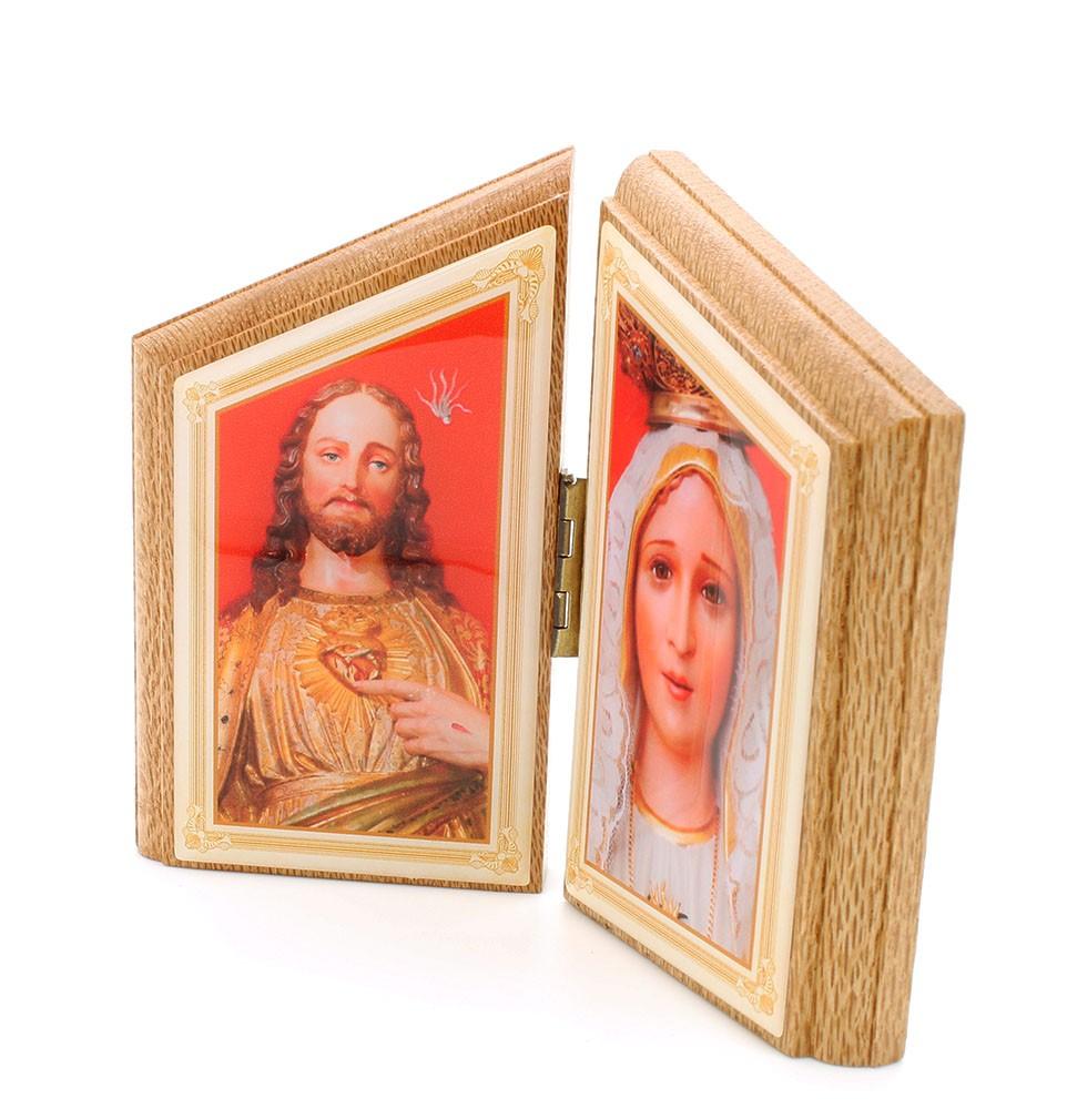 Capelinha de Mesa Sagrado Coração de  Jesus versus Nossa Senhora de Fátima