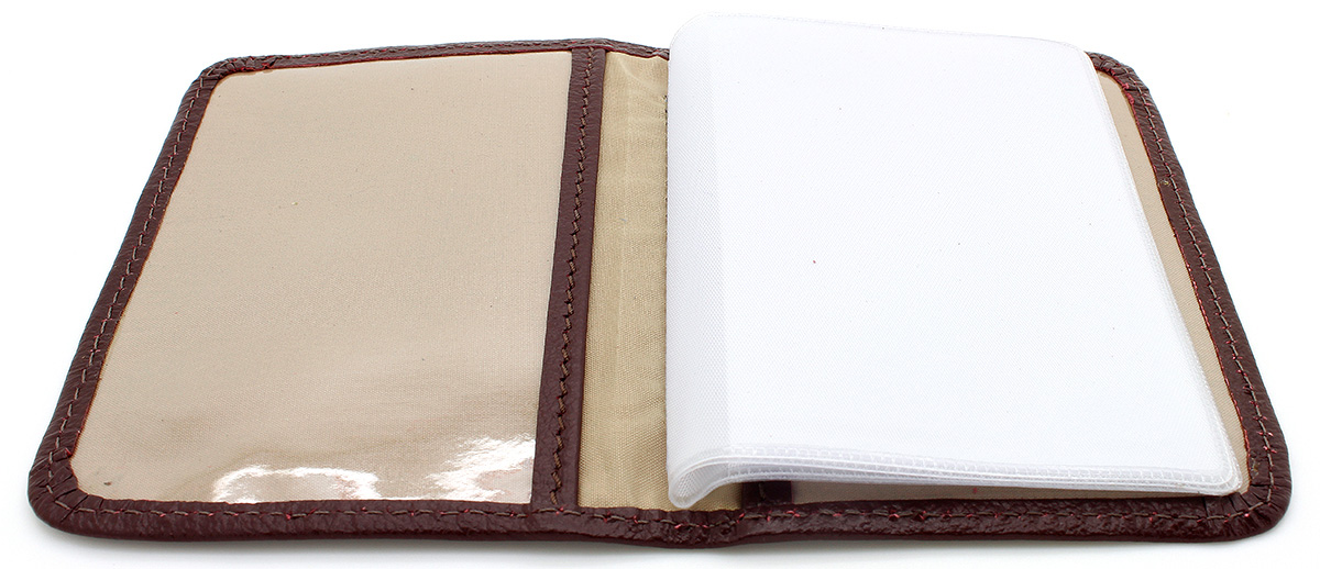 Carteira em Couro legítimo para Documentos com Cruz de Santiago - Marrom