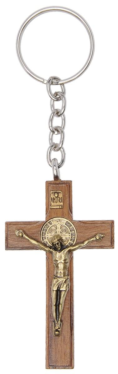 Chaveiro Crucifixo com medalha de São Bento