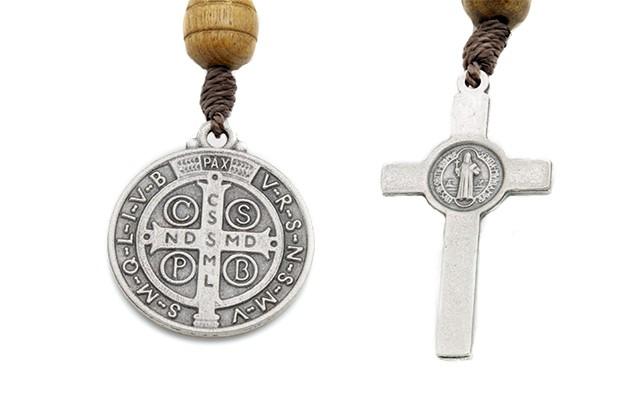 Chaveiro dezena - Cruz e Medalha São Bento