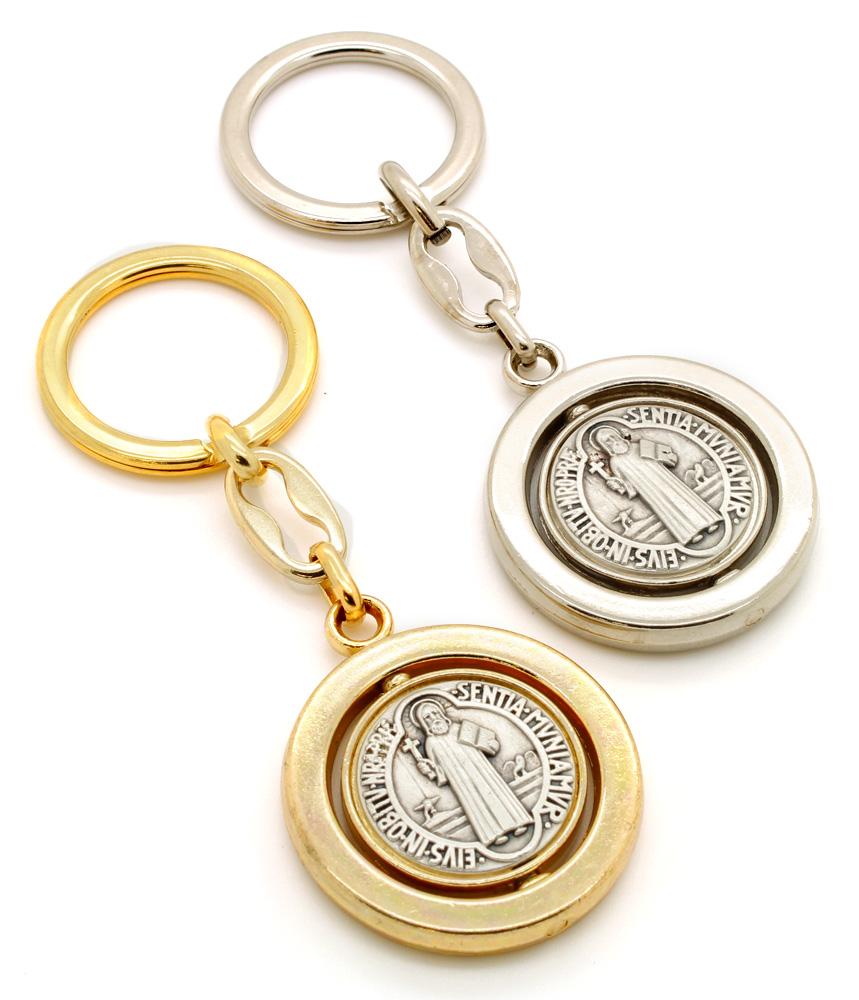 Chaveiro Medalha de São Bento Giratório - 10cm