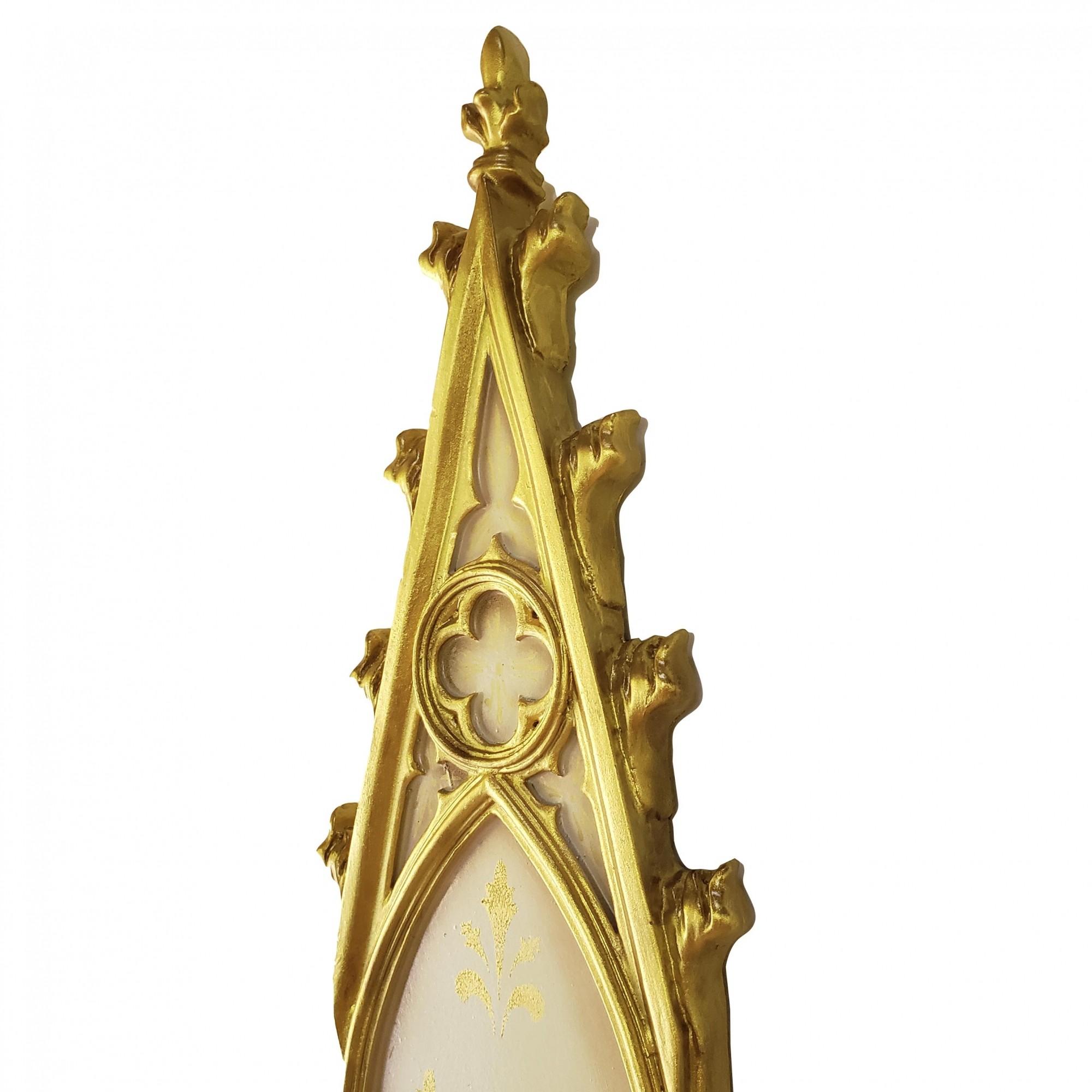 Peanha Oratório Gótico 45CM Dourado