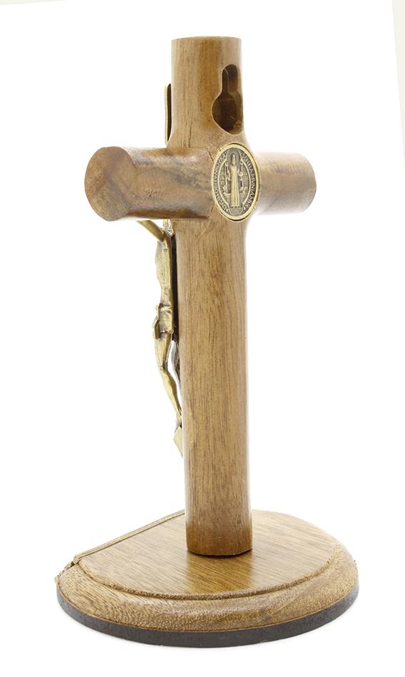 Crucifixo com Medalha de São Bento - 12 cm