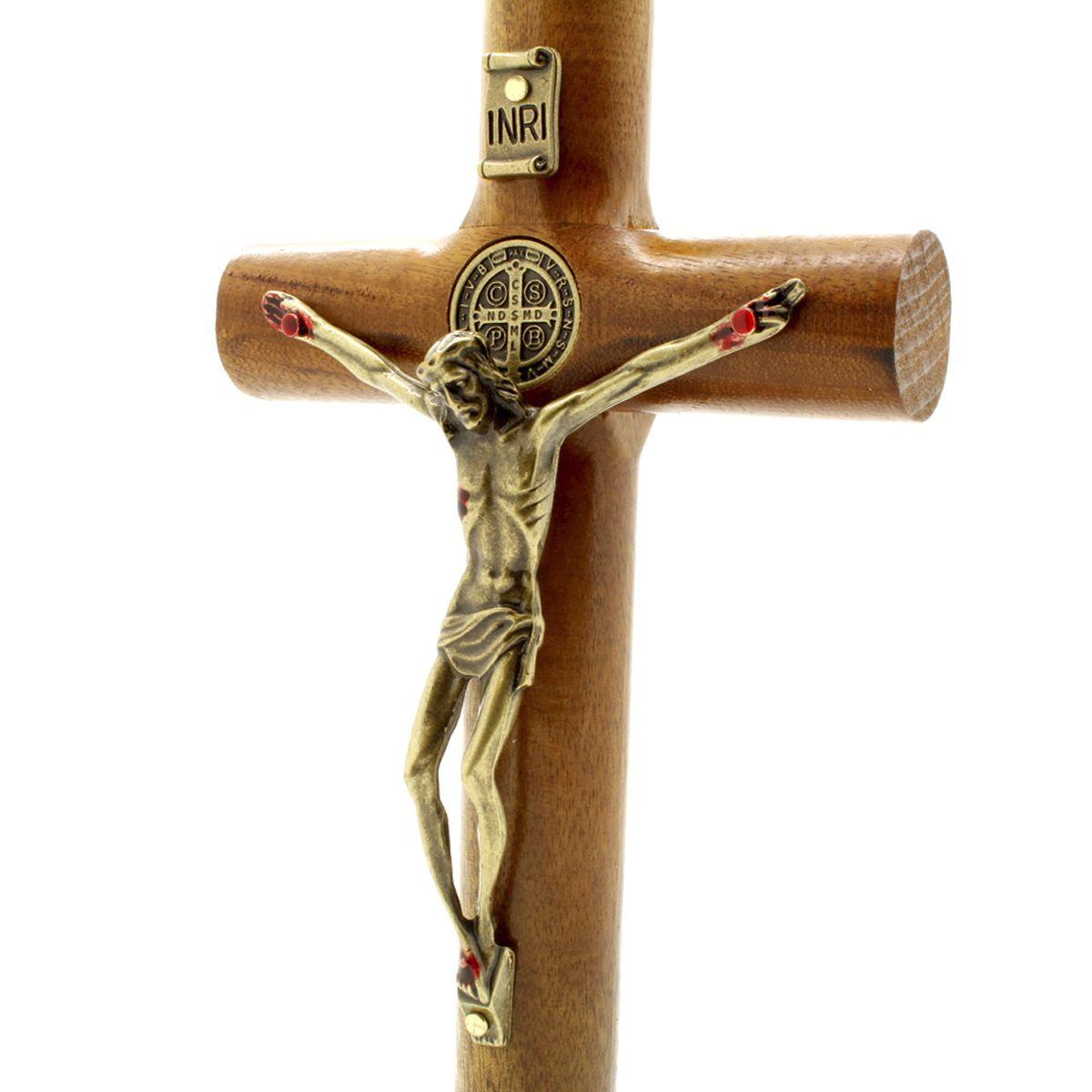 Crucifixo com Medalha de São Bento - 17 cm Parede